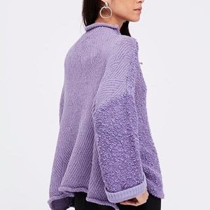 NWT FREE PEOPLE 'Cuddle Up Pullover Sweater' LG